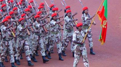 Female Soldiers in Eritrea. Photo: Temesgen Woldezion